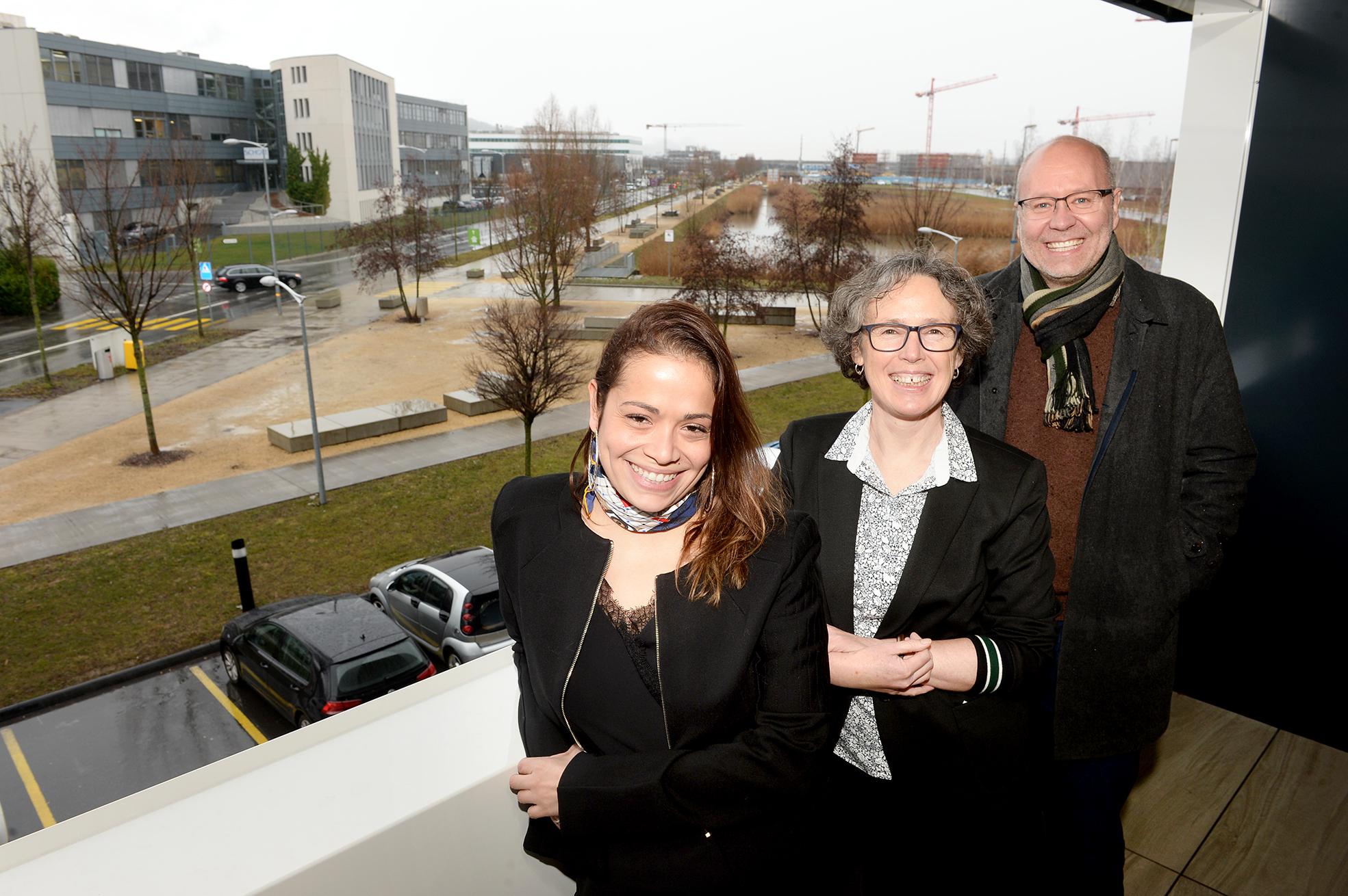 Yverdon, 1er février 2019. Y-PARC, de g à dr: Juliana Pantet, Martha Liley, Markus Bärtschi. © Michel Duperrex